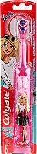 Парфюмерия и Козметика Детска електрическа четка за зъби, розово-бяла - Colgate Electric Motion Barbie