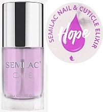 Парфюмерия и Козметика Масло-еликсир за нокти и кожички с аромат на жасмин и лилия - Semilac Care Nail & Cuticle Elixir Hope