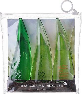 Комплект - Holika Holika Aloe Face And Body Care Set (foam/55ml + gel/55ml + sh/gel/55ml)