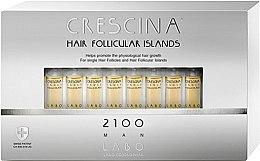 Парфюмерия и Козметика Ампули за стимулиране на растежа на косата за мъже 2100 - Labo Crescina Hair Follicular Island 2100 Man