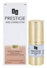 Парфюмерия и Козметика Изглаждащ крем за чувствителна кожа 40+ - AA Prestige Age Corrector Eye Crem