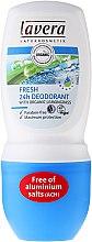Парфюмерия и Козметика Рол-он дезодорант - Lavera Fresh 24h Deodorant With Organic Lemobgrass