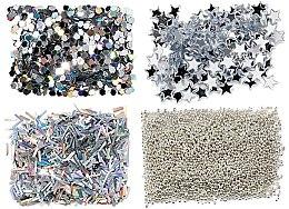 Парфюмерия и Козметика Комплект декорации за нокти - Peggy Sage Nail Glitter Mini Kit Argent
