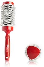Парфюмерия и Козметика Брашинг термо четка за коса 43 мм - Upgrade Triangular Concave Thermal Brush Red Angle