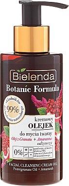 Почистващо кремообразно масло за лице - Bielenda Botanic Formula Pomegranate Oil + Amaranth Facial Cleansing Cream Oil — снимка N1