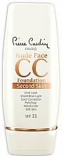 Парфюмерия и Козметика СС крем - Pierre Cardin Nude Face CC Foundation Second Skin SPF 15