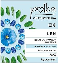 Парфюмерия и Козметика Хидратиращ и успокояващ крем за лице с лен - Polka Face Cream