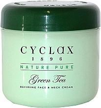 Парфюмерия и Козметика Крем за лице и шия със зелен чай - Cyclax Nature Pure Green Tea Face & Neck Cream