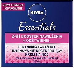 Парфюми, Парфюмерия, козметика Регенериращ нощен крем за суха кожа - Nivea Rich Regenerating Night Care