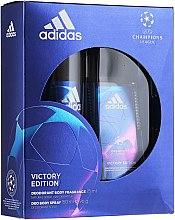 Парфюми, Парфюмерия, козметика Adidas UEFA Champions League Victory Edition - Комплект (део спрей/75ml+део/150ml)