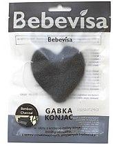 """Парфюми, Парфюмерия, козметика Гъба за измиване, сърце """"Бамбуков въглен"""" - Bebevisa Konjac Sponge"""