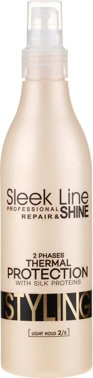 Двуфазен спрей за изправяне на коса - Stapiz Sleek Line Thermal Protection 2 Phases