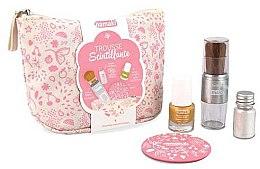 Парфюмерия и Козметика Детски комплект - Namaki Glitter Kit (/7.5ml+лак за нокти/ блестяща пудра/7g+вълшебна четка+огледало+ несесер)