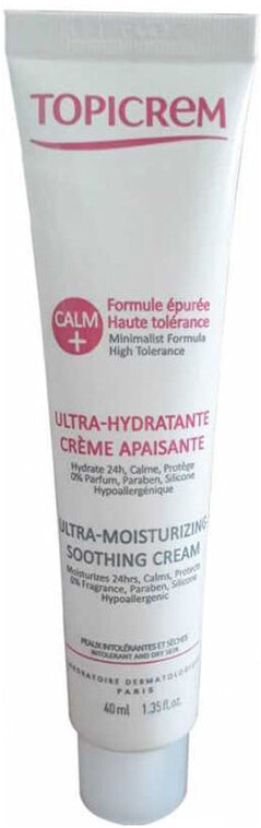 Ултрахидратиращ и успокояващ крем за лице - Topicrem Calm Ultra Moisturizing Soothing Cream