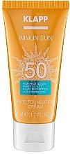 Парфюми, Парфюмерия, козметика Слънцезащитен фон дьо тен SPF50 - Klapp Immun Sun Face Foundation Cream SPF50