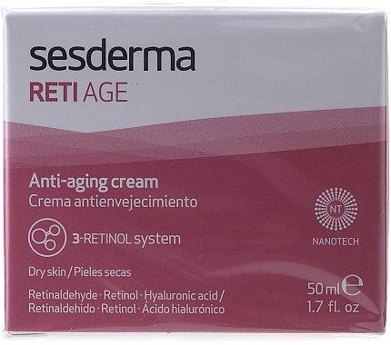 Крем против стареене с ретинол за суха кожа - SesDerma Laboratories Reti Age Facial Antiaging Cream 3-Retinol System — снимка N4