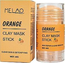 Парфюмерия и Козметика Стик глинена маска за лице с портокал - Melao Orange Clay Mask Stick