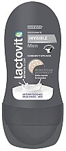 Парфюми, Парфюмерия, козметика Рол-он дезодорант - Lactovit Men Invisible Deodorant Roll-On