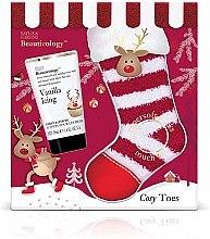 Парфюми, Парфюмерия, козметика Комплект - Baylis & Harding Beauticology Vanilla Icing Foot Care Set (лосион за крака/50ml + чорапи)