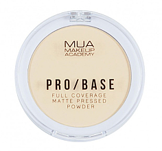 Парфюмерия и Козметика Компактна матираща пудра за лице - MUA Pro-Base Full Coverage Matte Pressed Powder