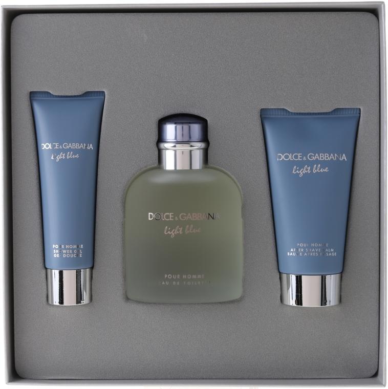 Dolce & Gabbana Light Blue Pour Homme - Комплект (edt 125 + sh/g 50 + a/sh balm 75) — снимка N1