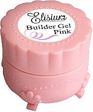 Парфюмерия и Козметика Розов гел за изграждане на нокти - Elisium Builder Gel Pink