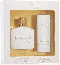 Парфюмерия и Козметика Jay Z Gold - Комплект (тоал. вода/50ml + афтър. балсам/90ml)