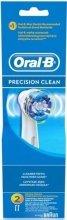 Парфюмерия и Козметика Комплект сменяеми глави за електрическа четка за зъби, 2 бр. - Oral-B Precision Clean