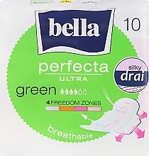 Парфюмерия и Козметика Дамски превръзки Perfecta Green Drai Ultra, 10 бр - Bella