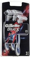 Парфюми, Парфюмерия, козметика Комплект самобръсначки, сини, 3бр - Gillette Blue 3