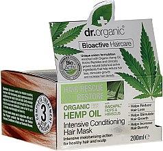 Парфюми, Парфюмерия, козметика Маска за коса с конопено масло - Dr. Organic Bioactive Haircare Hemp Oil Intensive Conditioning Hair Mask