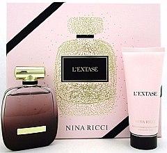 Парфюми, Парфюмерия, козметика Nina Ricci L'Extase - Комплект (парф. вода/80ml + лосион за тяло/100ml)
