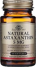 """Парфюмерия и Козметика Хранителна добавка """"Астаксантин"""", гел капсули - Solgar Natural Astaxanthin 5 Mg"""