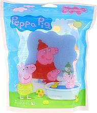 """Парфюмерия и Козметика Детска гъба за баня """"Прасето Пепа"""", синя - Suavipiel Bath Sponge"""