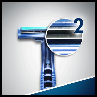 Комплект еднократни самобръсначки - Gillette Blue II Plus Chromium — снимка N5
