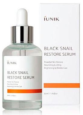 Възстановяващ серум за лице с черен охлюв - IUNIK Black Snail Restore Serum