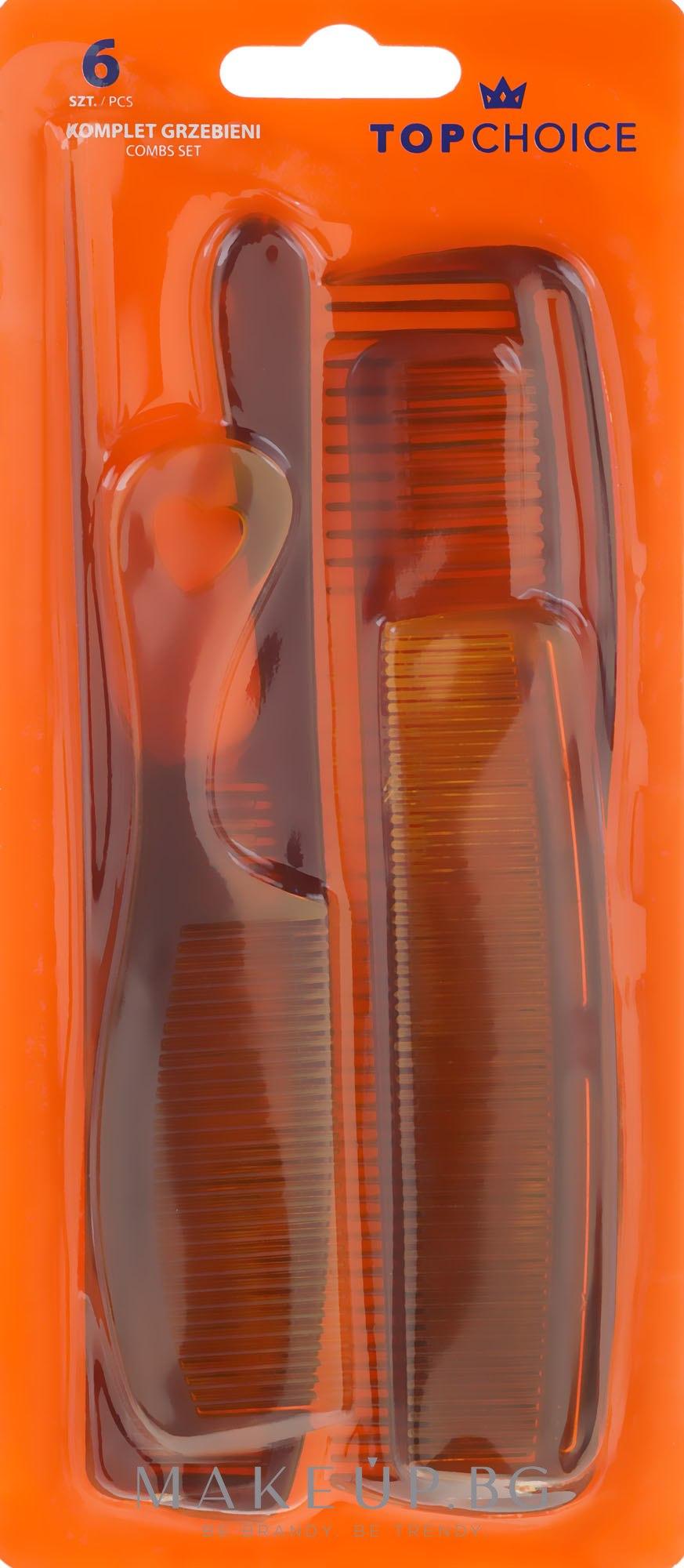 Комплект гребени за коса, 60465 - Top Choice — снимка 6 бр