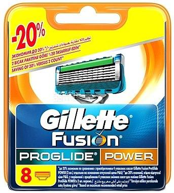 Сменяеми ножчета за бръснене, 8 бр. - Gillette Fusion ProGlide Power — снимка N2