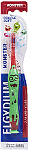 Парфюмерия и Козметика Детска четка за зъби, 2-6 год., червена - Elgydium Kids Monster Toothbrush