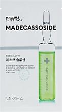 Парфюмерия и Козметика Маска за лице с мадекасосид - Missha Mascure Rescue Solution Sheet Mask Madecassoside