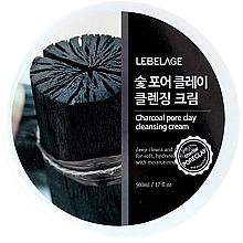 Парфюмерия и Козметика Почистващ крем за лице - Lebelage Charcoal Pore Clay Cleansing Cream