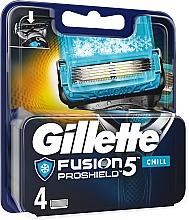 Парфюмерия и Козметика Ножчета за бръснене - Gillette Fusion Proshield Chill