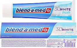 "Парфюмерия и Козметика Паста за зъби ""Прохладна свежест - Blend-a-med 3D White Fresh Cool Water Toothpaste"