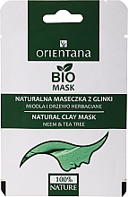 Парфюмерия и Козметика Глинена маска за мазна кожа с мед и чаено дърво - Orientana (хартиена опаковка)