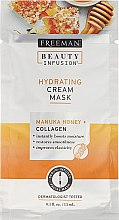 Парфюмерия и Козметика Маска за лице - Freeman Beauty Infusion Hydrating Cream Mask Manuka Honey + Collagen (мини)