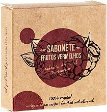 Парфюмерия и Козметика Натурален сапун с червени плодове - Essencias De Portugal Senses Red Fruits Soap With Olive Oil