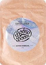 Парфюмерия и Козметика Кафеен скраб за тяло с активен въглен - Body Boom Active Charcoal Coffee Scrub