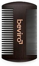 Парфюмерия и Козметика Гребен за брада - Beviro Pear Wood Beard Comb