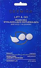 """Парфюмерия и Козметика Маска за околоочна зона """"Lift & Go"""" - Dermika Smoothing and Oxygenating Mask"""