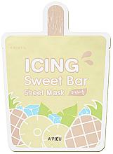 """Парфюмерия и Козметика Памучна маска за лице """"Сладолед ананас"""" - A'pieu Icing Sweet Bar Sheet Mask"""
